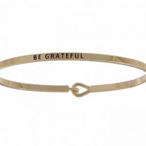 Be Grateful: 16mm Bracelet - Affirmation Jewelry