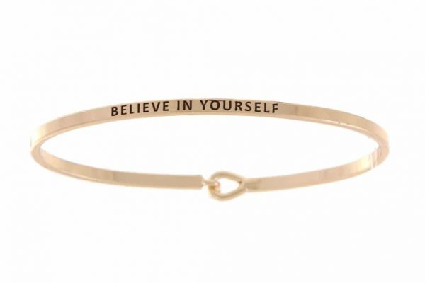 Believe In Yourself: 16mm Bracelet - Affirmation Jewelry