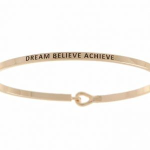 Dream Believe Achieve: 16mm Bracelet - Affirmation Jewelry