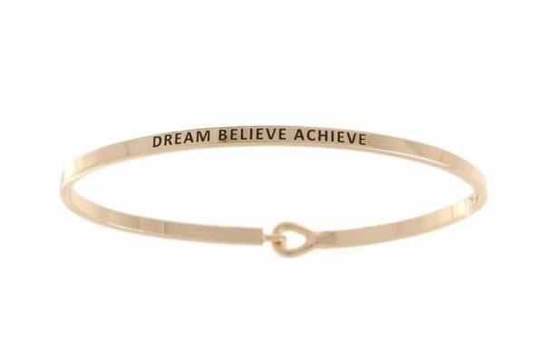 Dream Believe Achieve: 16mm Bracelet - Affirmation Jewelry
