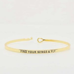 Find Your Wings & Fly: 16mm Bracelet - Affirmation Jewelry