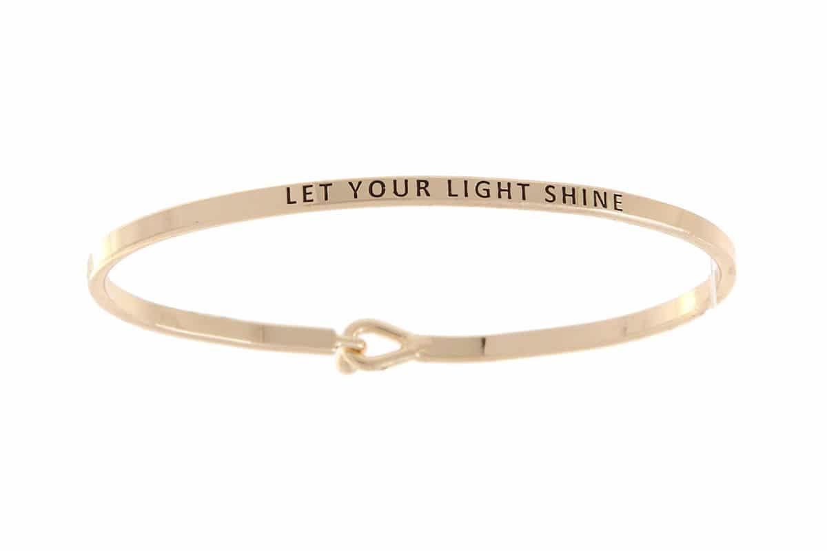 Let Your Light Shine: 16mm Bracelet - Affirmation Jewelry