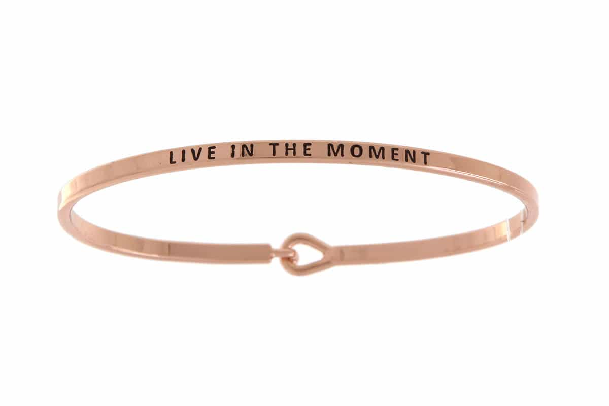 Live In The Moment: 16mm Bracelet - Affirmation Jewelry