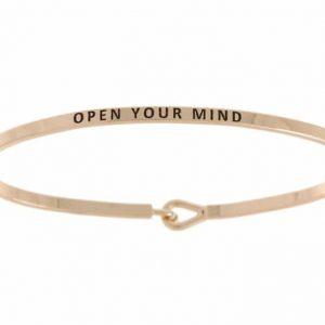 Open Your Mind: 16mm Bracelet - Affirmation Jewelry