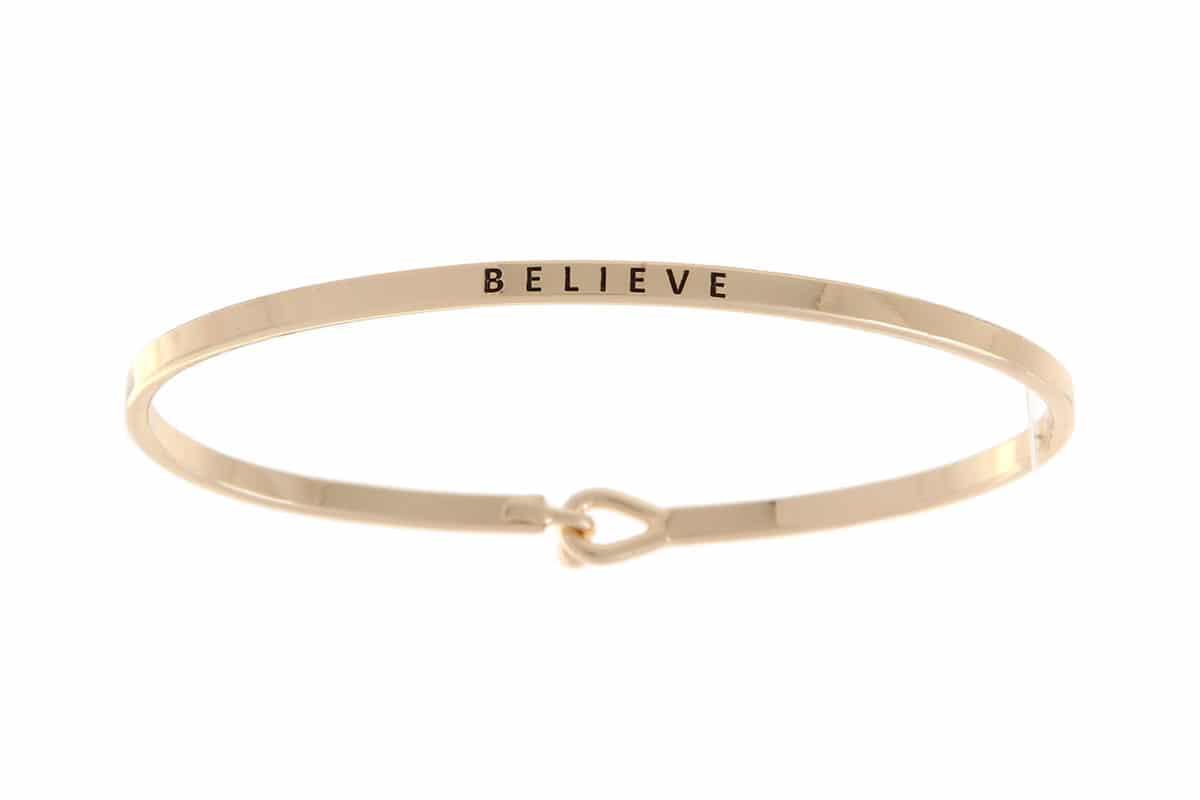 Believe: 16mm Bracelet - Affirmation Jewelry