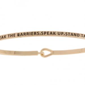 Break Barriers, Speak Up, Stand Tall: 16mm Bracelet - Affirmation Jewelry