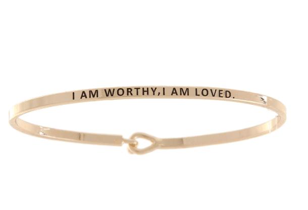 I Am Worthy, I Am Loved: 16mm Bracelet - Affirmation Jewelry